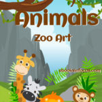 ebook cover for Animal zoo colouring book