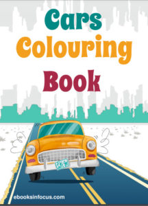 ebook cover for cars colouring book