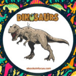 ebook cover for dinosaurs colouring book