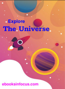 ebook cover for Explore the universe colouring book