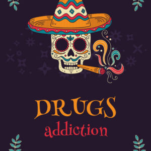 ebook cover for addiction art colouring book