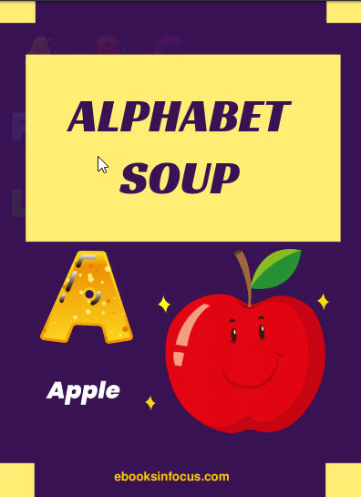 ebook cover for alphabet soup colouring book
