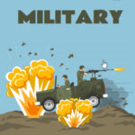 ebook cover for army and military colouring book