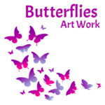 ebook cover for butterflies art colouring book