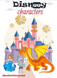 ebook cover for disnee characters colouring book