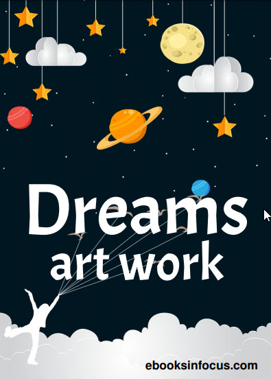 ebook cover for dreams art colouring book