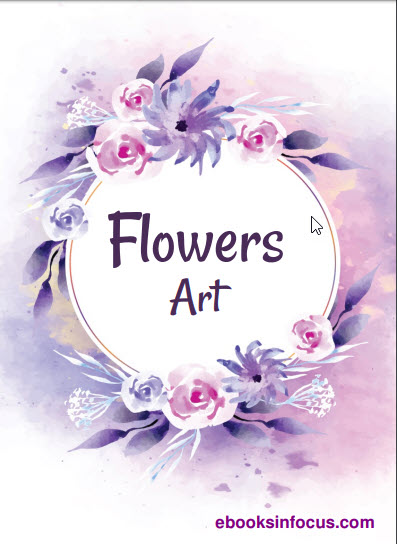 ebook cover for flowers art colouring book