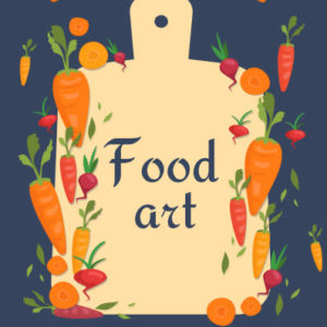 ebook cover for food art colouring book