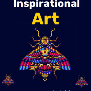 ebook cover for inspirational art colouring book