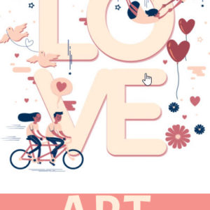 ebook cover for love art colouring book
