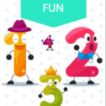 ebook cover for number fun colouring book