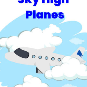 ebook cover for sky high planes colouring book
