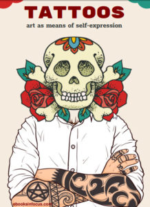 ebook cover for tattoo art colouring book