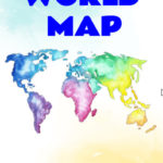 ebook cover for world map colouring book